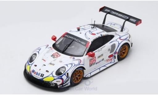 Porsche 911 1/18 Spark (991.2) RSR No.912 GT Team Petit Le Mans 2018 E.Bamber/L.Vanthoor/M.Jaminet diecast
