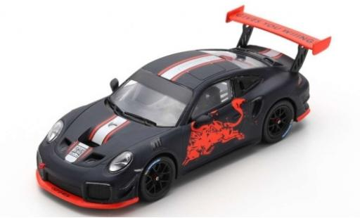Porsche 992 1/43 Spark 911 (991) GT2 RS Clubsport matt-black/Dekor Red Bull Spielberg 2019 diecast model cars