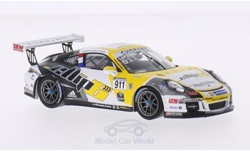 Porsche 991 SC 1/43 Spark (991) GT3 Cup No. Sebastien Loeb Racing Carrera Cup France 2015 C.Lapierre miniature