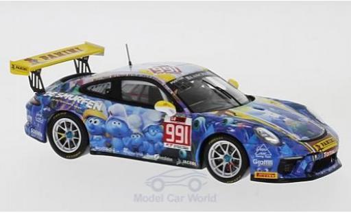 Porsche 991 GT3 Cup 1/43 Spark 911  No. SpeedLover 24h Spa 2017 P.Y.Paque/G.Paisse/T.de Latre du Bosqueau/L.-P.Soenen miniature