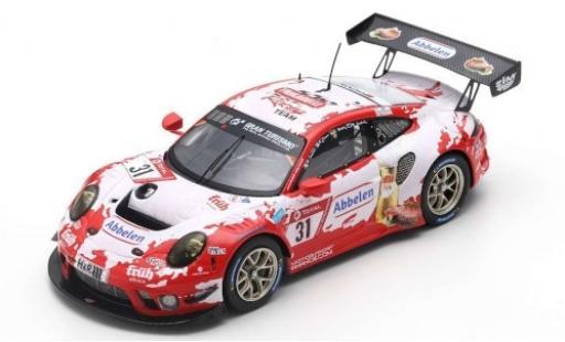 Porsche 992 GT3 R 1/43 Spark 911 (991) No.31 Frikadelli Racing Team 24h Nürburgring 2019 R.Dumas/M.Campbell/S.Müller/M.Jaminet diecast model cars