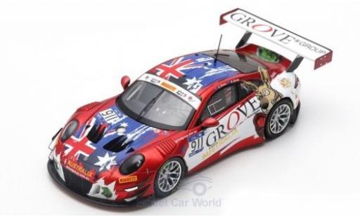 Porsche 991 GT3 R 1/43 Spark 911  No.911 Herberth Motorsport FIA GT Nations Cup Bahrain 2018 Team Australia S.Grove/B.Grove modellino in miniatura