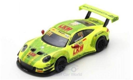 Porsche 991 GT3 R 1/64 Spark 911  No.911 Manthey-Racing Fia GT World Cup Macau 2018 L.Vanthoor diecast model cars