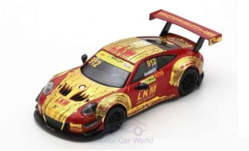 Porsche 991 GT3 R 1/18 Spark 911  No.912 Manthey Racing Fia GT World Cup Macau 2018 E.Bamber miniature