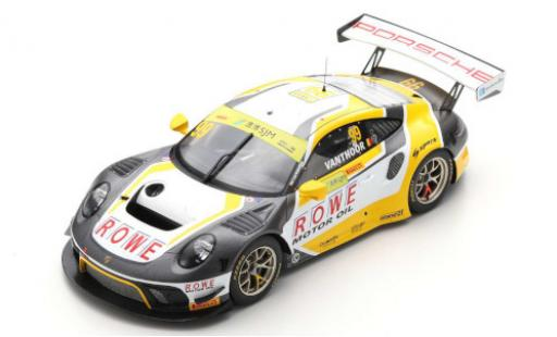 Porsche 992 GT3 R 1/18 Spark 911 (991) No.99 ROWE Racing Fia GT World Cup Macau 2019 L.Vanthoor coche miniatura