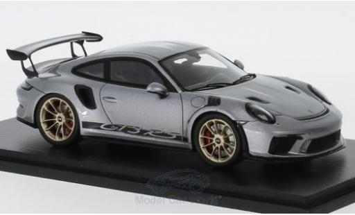Porsche 991 GT3 RS 1/43 Spark 911  metallise grey 2018 diecast model cars