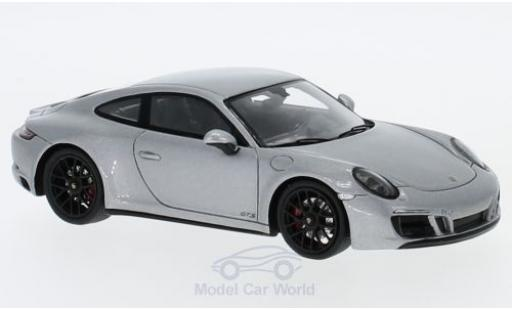 Porsche 991 SC 1/43 Spark (991 II) Carrera 4 GTS gris 2017 miniatura