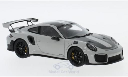 Porsche 991 SC 1/43 Spark (991 II) GT2  hellgrise/noire 2018 Weissach Package miniature