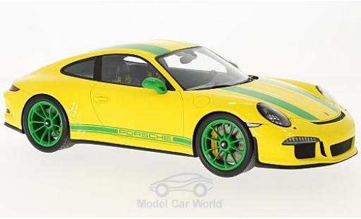Porsche 991 R 1/18 Spark 911  jaune/verte 2016 miniature