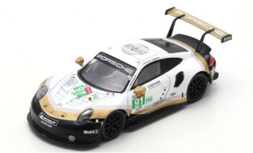 Porsche 911 1/43 Spark (991) RSR No.91 GT Team 24h Le Mans 2019 R.Lietz/G.Bruni/F.Makowiecki miniatura