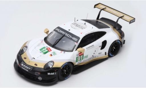 Porsche 992 RSR 1/87 Spark 911 (991) No.91 GT Team LMGTE Pro 24h Le Mans 2019 R.Lietz/G.Bruni/F.Makowiecki diecast model cars