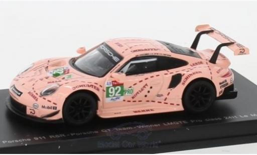 Porsche 991 RSR 1/64 Spark 911  No.92 GT Team 24h Le Mans 2018 M.Christensen/K.Estre/L.Vanthoor miniature