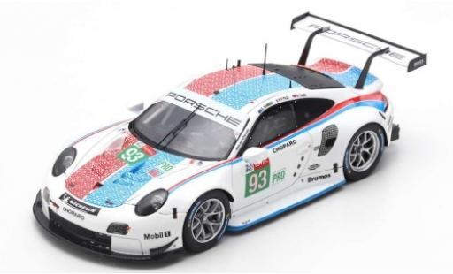 Porsche 992 RSR 1/18 Spark 911 (991) No.93 GT Team 24h Le Mans 2019 P.Pilet/E.Bamber/N.Tandy coche miniatura