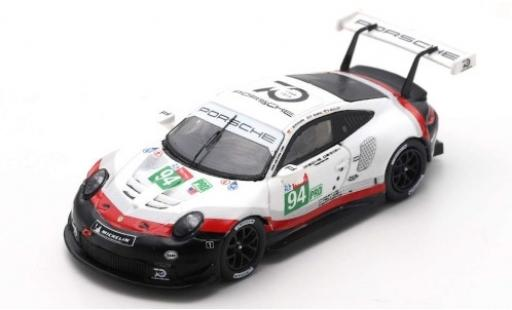 Porsche 911 1/87 Spark (991) RSR No.94 GT Team 24h Le Mans 2018 R.Dumas/T.Bernhard/S.Müller miniatura