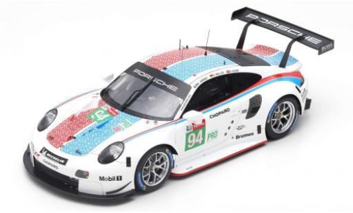 Porsche 992 RSR 1/18 Spark 911 (991) No.94 GT Team 24h Le Mans 2019 S.Müller/M.Jaminet/D.Olsen diecast model cars