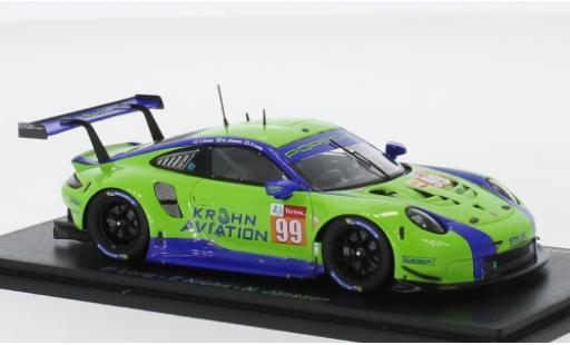 Porsche 992 RSR 1/43 Spark 911 (991) No.99 Dempsey-Predon Racing 24h Le Mans 2019 P.Long/T.Krohn/N.Jönsson diecast model cars