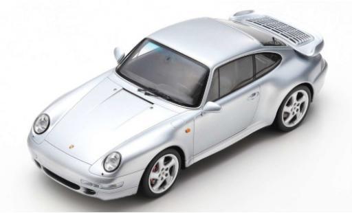 Porsche 993 Turbo 1/18 Spark 911  gris 1997 coche miniatura