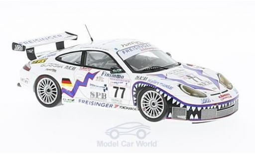 Porsche 996 GT3 RS 1/43 Spark 911  No.77 Freisinger Motorsport 24h Le Mans 2001 R.Dumas/G.Jeannette/P.Haezebrouck miniature