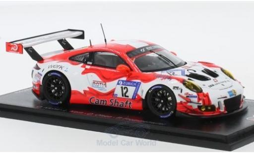 Porsche 991 GT3 R 1/43 Spark 911 (997) No.12 Manthey Racing 24h Nürburgring 2018 O.Klohs/L.Kern/D.Olsen/P.Frommenwiler diecast model cars