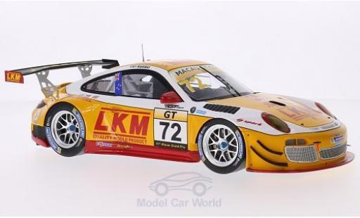 Porsche 997 SC 1/18 Spark (997) GT3 R No.72 LKM GT Asia Macau GT Cup 2014 E.Bamber diecast