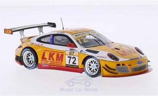 Porsche 997 SC 1/43 Spark (997) GT3 R No.72 LKM GT Cup GP Macau 2014 E.Bamber diecast