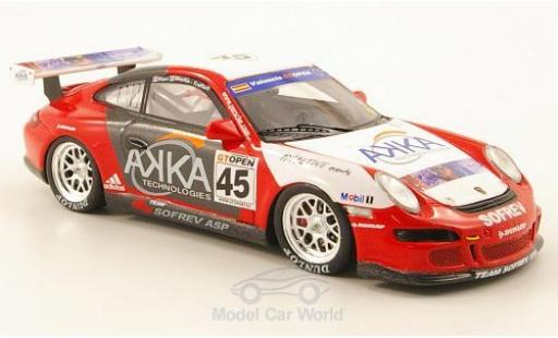 Porsche 997 SC 1/43 Spark 911  No.45 Team Sofrev AKKA GT Open 2007 M.Ricci/M.Moullin-Traffort modellautos