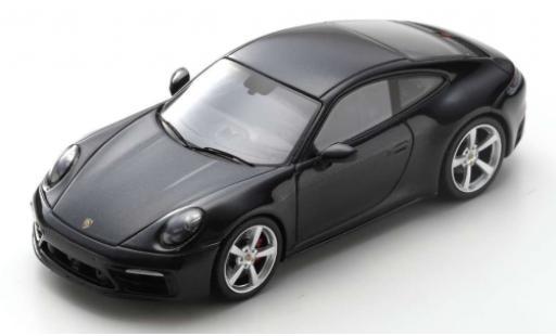 Porsche 992 4S 1/43 Spark 911 Carrera  black 2019 diecast model cars