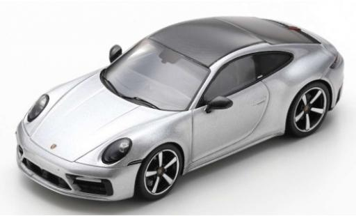 Porsche 992 4S 1/43 Spark 911 Carrera  grey/carbon 2019 diecast model cars