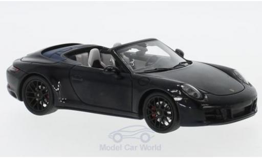 Porsche 991 GTS 1/43 Spark 911 Carrera Cabriolet black 2017 diecast model cars