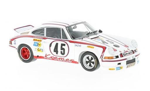 Porsche 911 1/43 Spark Carrera No.45 Kremer Racing Team 24h Le Mans 1973 E.Kremer/C.Schickentanz/P.Keller miniature