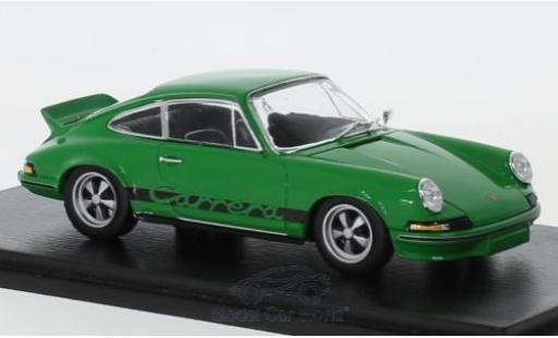 Porsche 911 RS 1/43 Spark Carrera 2.7 green 1973 diecast model cars