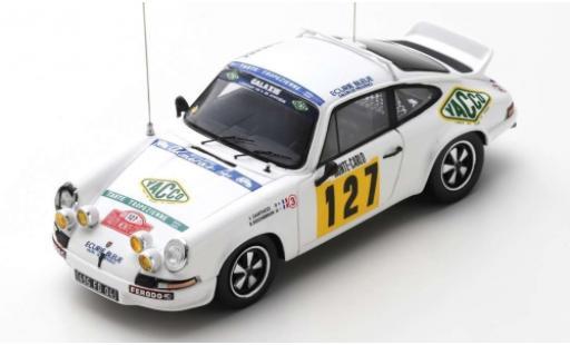 Porsche 930 RS 1/43 Spark 911 Carrera 2.7 No.127 Ecurie Bleue Yacco Rallye WM Rallye Monte Carlo 1978 J.J.Santucci/R.Rochebrun miniature