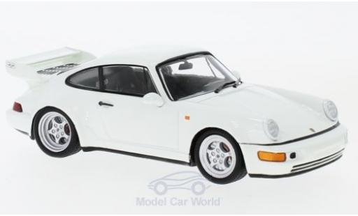 Porsche 964 SC 1/43 Spark Carrera  3.8 blanche 1993 miniature