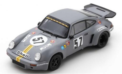 Porsche 930 RSR 1/43 Spark 911 Carrera 3.0 No.57 Gelo Racing 1000km Le Castellet 1974 T.Schenken/R.Stommelen diecast model cars