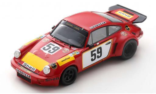 Porsche 930 RSR 1/43 Spark 911 Carrera No.59 Gelo Racing Team 24h Le Mans 1975 T.Schenken/H.Ganley diecast model cars