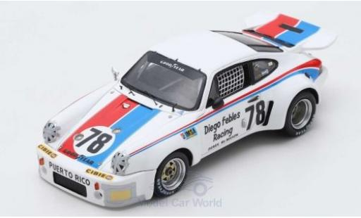 Porsche 911 1/43 Spark Carrera RSR No.78 24h Le Mans 1976 D.Febles/A.Poole/H.Cruz miniatura