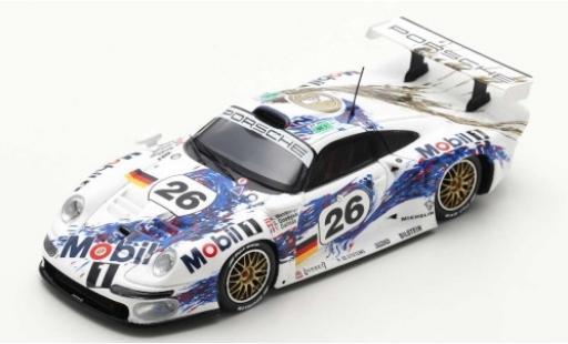 Porsche 993 1/43 Spark 911 GT1 No.26 AG Mobil 1 24h Le Mans 1996 Y.Dalmas/K.Wendlinger/S.Goodyear diecast model cars