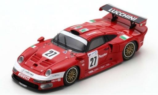 Porsche 996 GT1 1/43 Spark 911 No.27 BMS Scuderia Italia Lucchini 24h Le Mans 1997 C.Pescatori/P-L.Martini/A.Herrmann diecast model cars