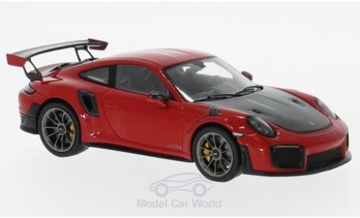 Porsche 991 GT2 RS 1/43 Spark 911 rouge/noire 2018 miniature