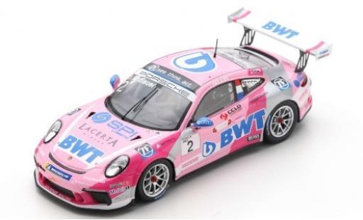 Porsche 992 GT3 1/43 Spark 911 Cup (991 II) No.2 BWT Lechner Racing BWT Carrera Cup Deutschland 2019 J.Andlauer miniature