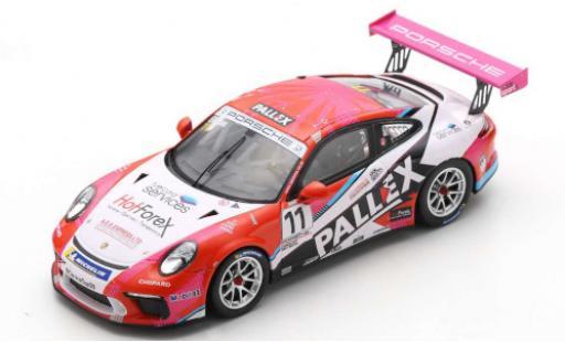 Porsche 991 GT3 Cup 1/43 Spark 911  No.11 Carrera Cup Britain 2018 T.Ellinas miniature