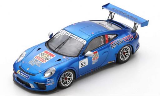 Porsche 991 GT3 Cup 1/43 Spark 911  No.53 Turkish National Team Carrera Cup France 2018 A.Güven miniature