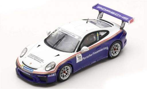 Porsche 991 GT3 Cup 1/43 Spark 911 (997 II) No.70 Carrera Cup Scandinavia Gellerasen Arena 2018 70th Anniversaire S.Blomqvist modellautos