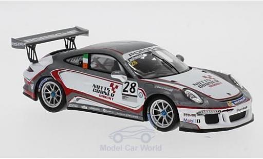 Porsche 991 GT3 Cup 1/43 Spark 911 No.28 Carrera Cup Britain 2017 C.Eastwood diecast model cars