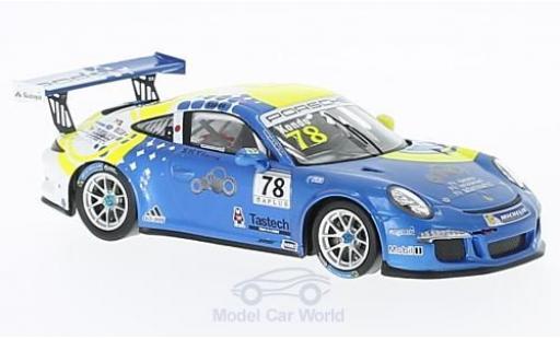 Porsche 991 GT3 Cup 1/43 Spark 911 No.78 Carrera Cup Japan 2016 T.Kondo miniature
