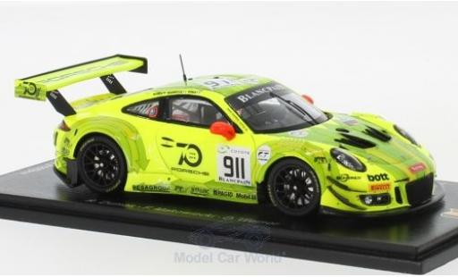 Porsche 991 GT3 R 1/43 Spark 911  No.911 Manthey Racing 24h Spa 2018 F.Makowiecki/R.Dumas/D.Werner diecast model cars