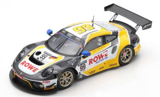 Porsche 992 GT3 R 1/43 Spark 911 (991) No.99 Rowe Racing ROWE 24h Spa 2020 K.Bachler/D.Werner/J.Andlauer diecast model cars