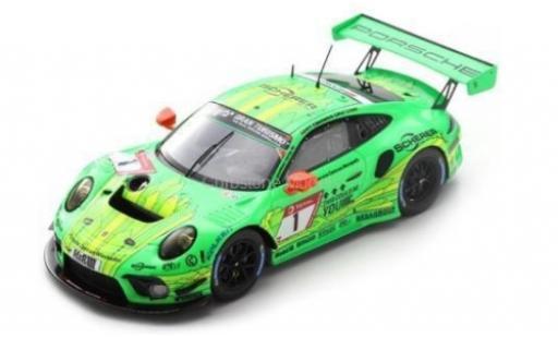 Porsche 992 GT3 R 1/43 Spark 911 No.1 Manthey-Racing 24h Nürburgring 2019 R.Lietz/F.Makowiecki/P.Pilet/N.Tandy diecast model cars