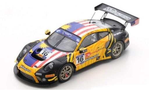 Porsche 992 GT3 R 1/43 Spark 911 No.16 Team Malaysia FIA Motorsport Games GT Cup Vallelunga 2019 A.H.D Silva/W.Tan diecast model cars