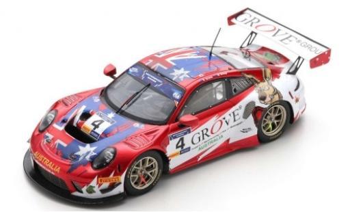 Porsche 992 GT3 R 1/43 Spark 911 No.4 Team Australia Grove FIA Motorsport Games GT Cup Vallelunga 2019 S.Grove/B.Grove diecast model cars